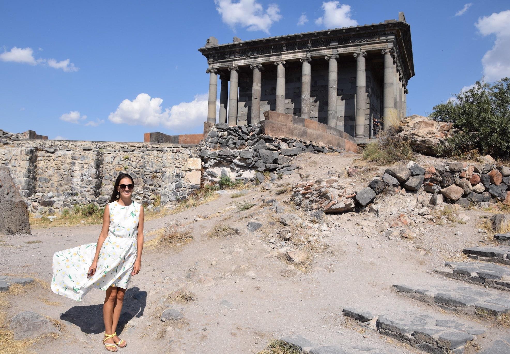 Поездка в Армению. Древний языческий храм Гарни