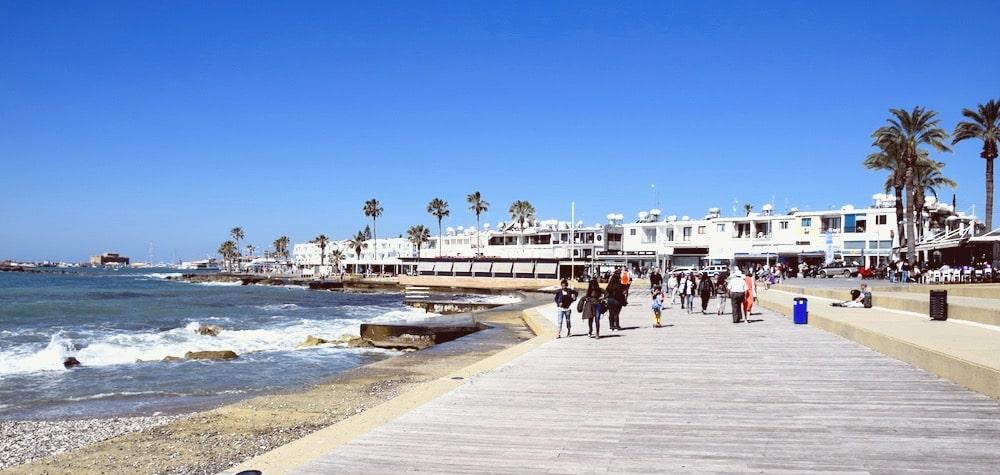 Набережная на Кипре в Пафосе