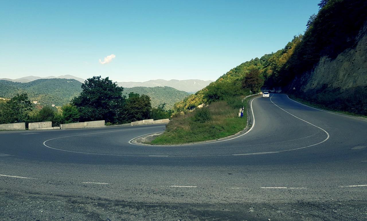 Горная дорога в Армении