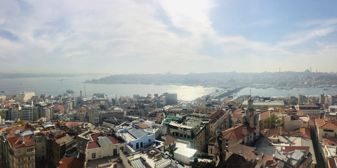 Вид с Галатской башни в Стамбуле