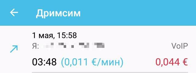 Стоимость звонка в Китае через Drimsim