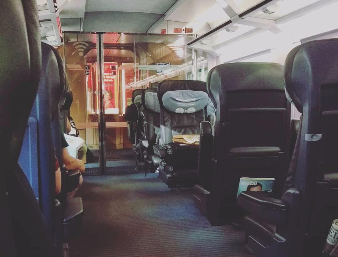 Первый класс поезда в Германии