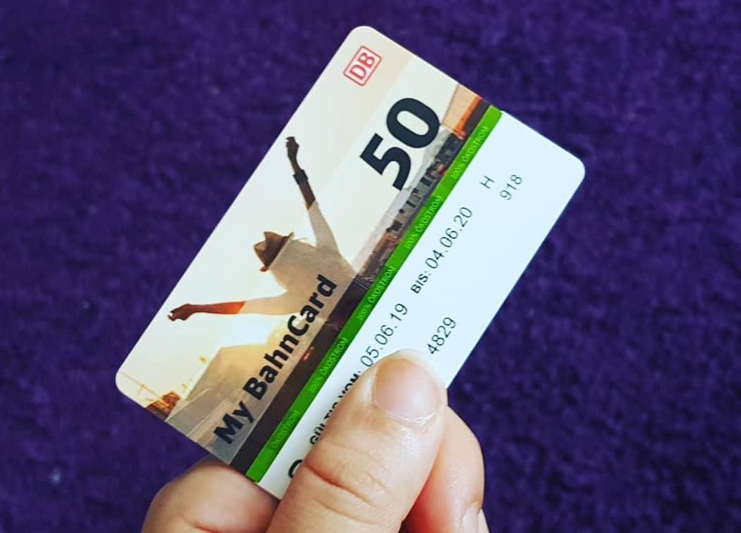 Проездной BahnCard 50