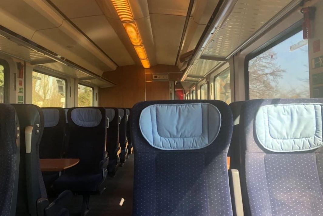 Второй класс поезда в Германии