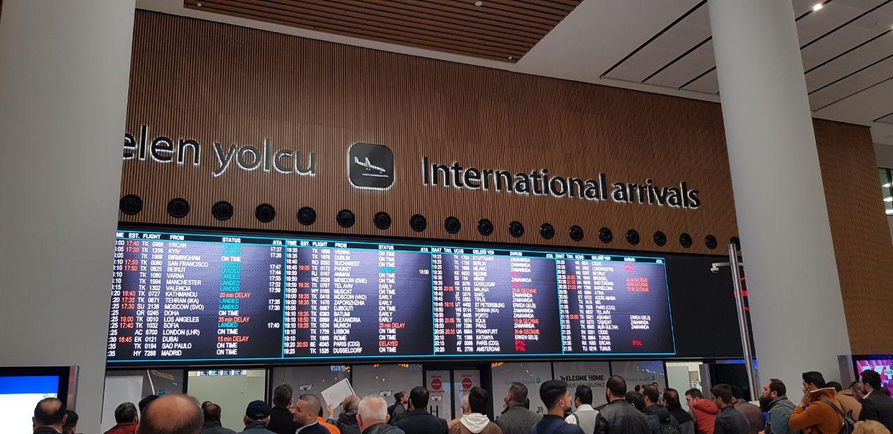 Международные рейсы в аэропорту Стамбула