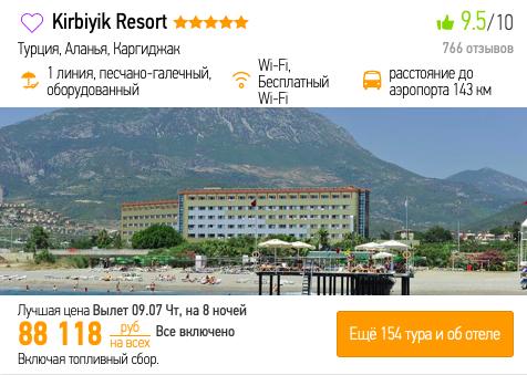 Пример выбора отеля