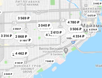 Стоимость жилья в Майами