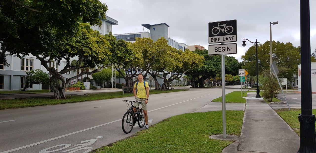 В Майами на велосипеде