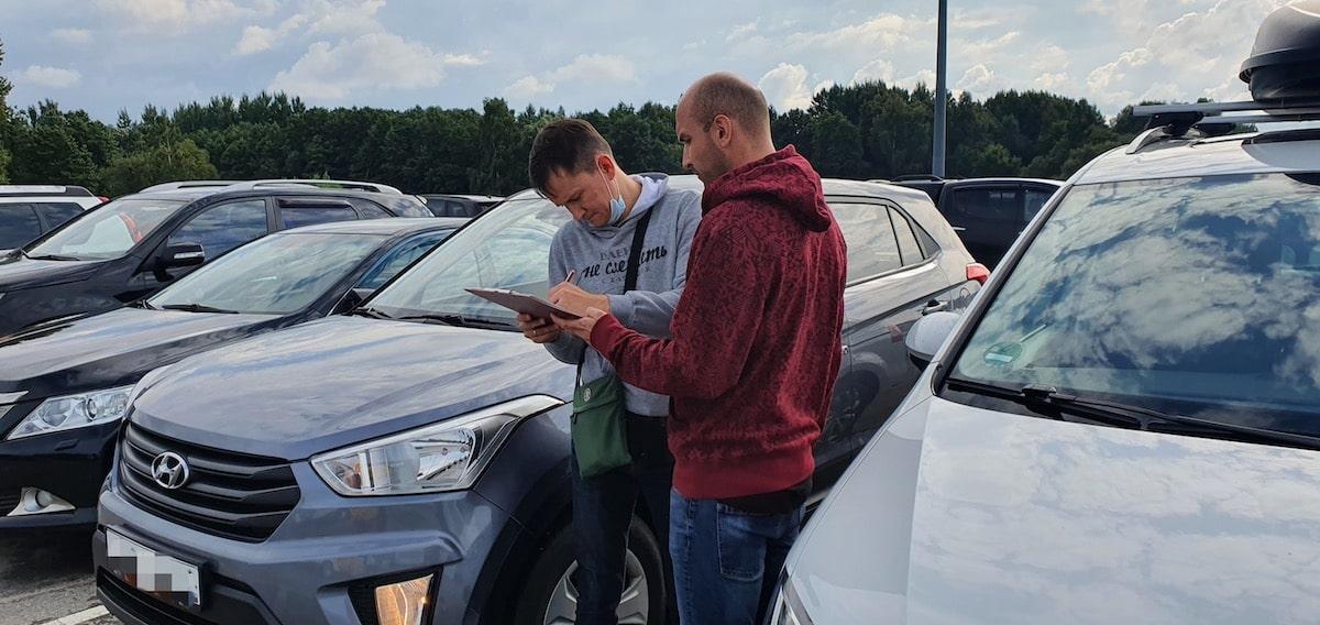 Подписание акта приема-передачи по прокату авто в Калининграде
