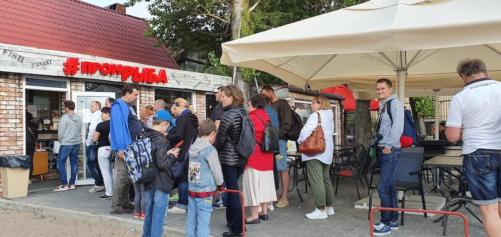 Кафе Промрыба в Зеленоградске